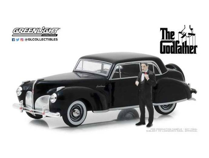 The Godfather Diecast Model 1/43 1941 Lincoln Continental with figure