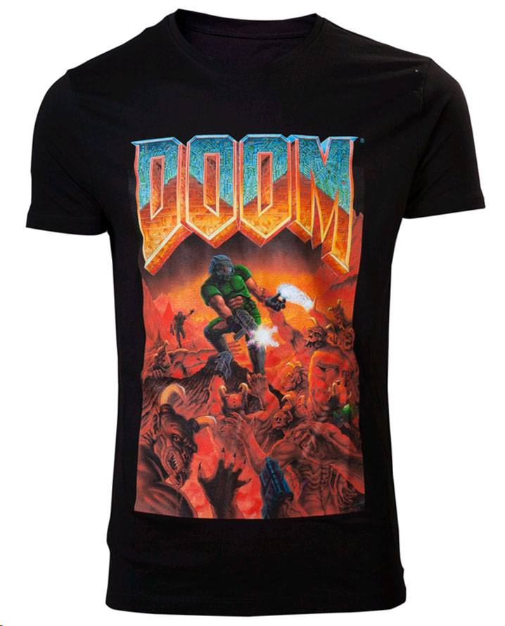 Doom T-Shirt Classic Boxart Size M
