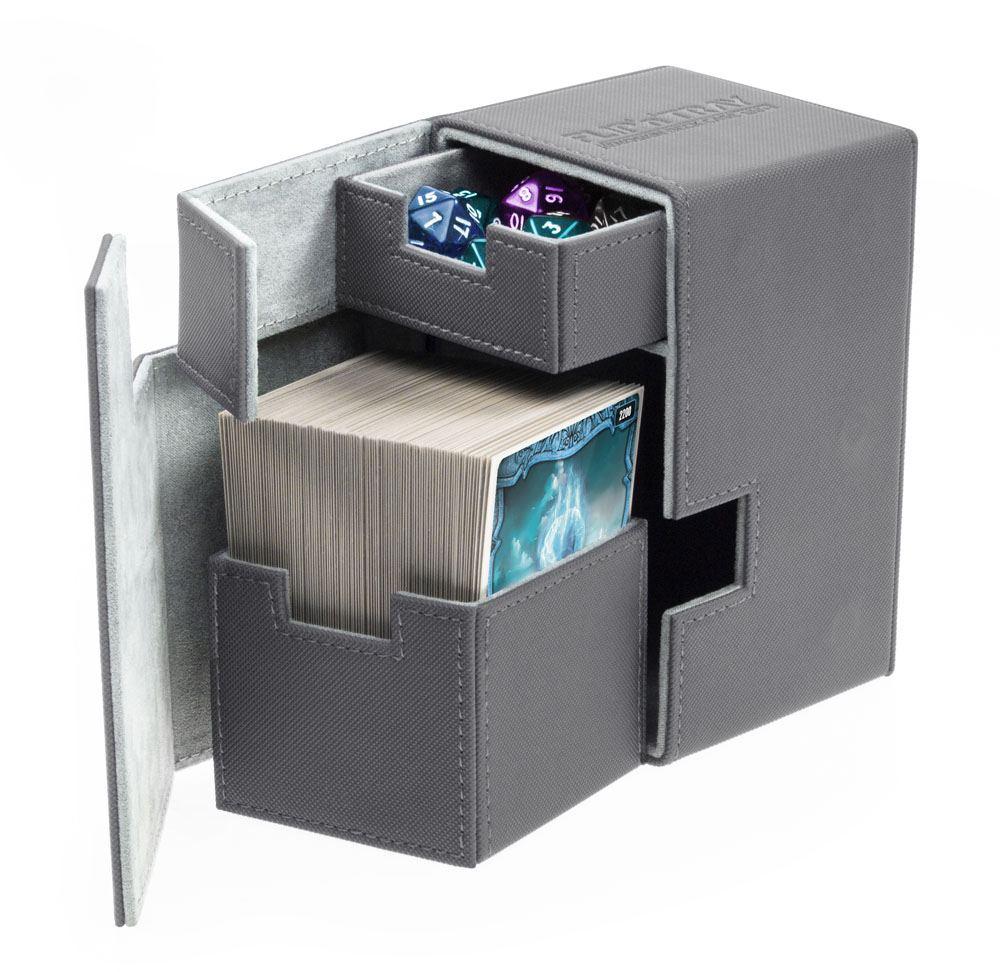 Ultimate Guard Flip´n´Tray  Deck Case 100+ Standard Size XenoSkin™ Grey
