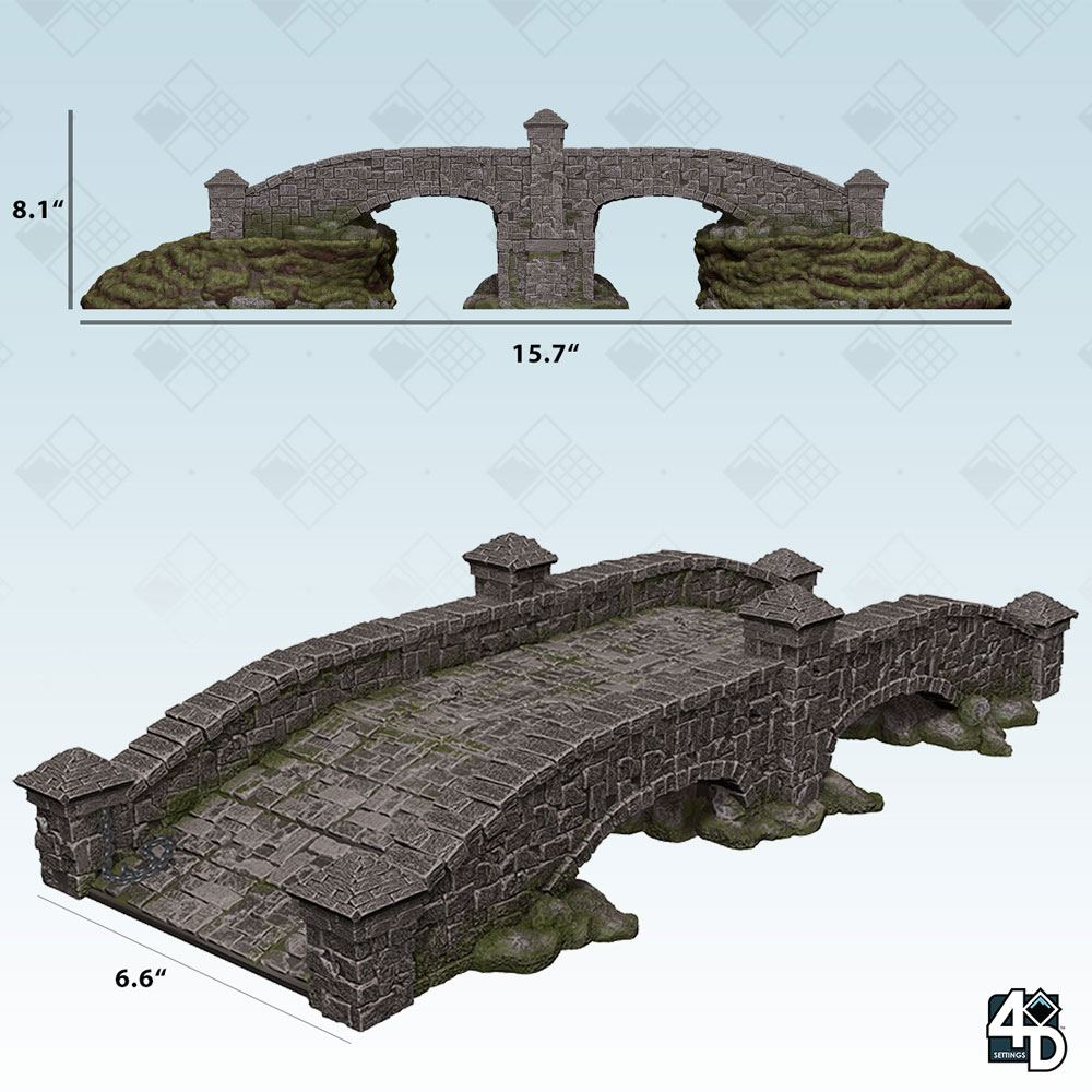 WizKids 4D Settings Miniatures Stone Bridge