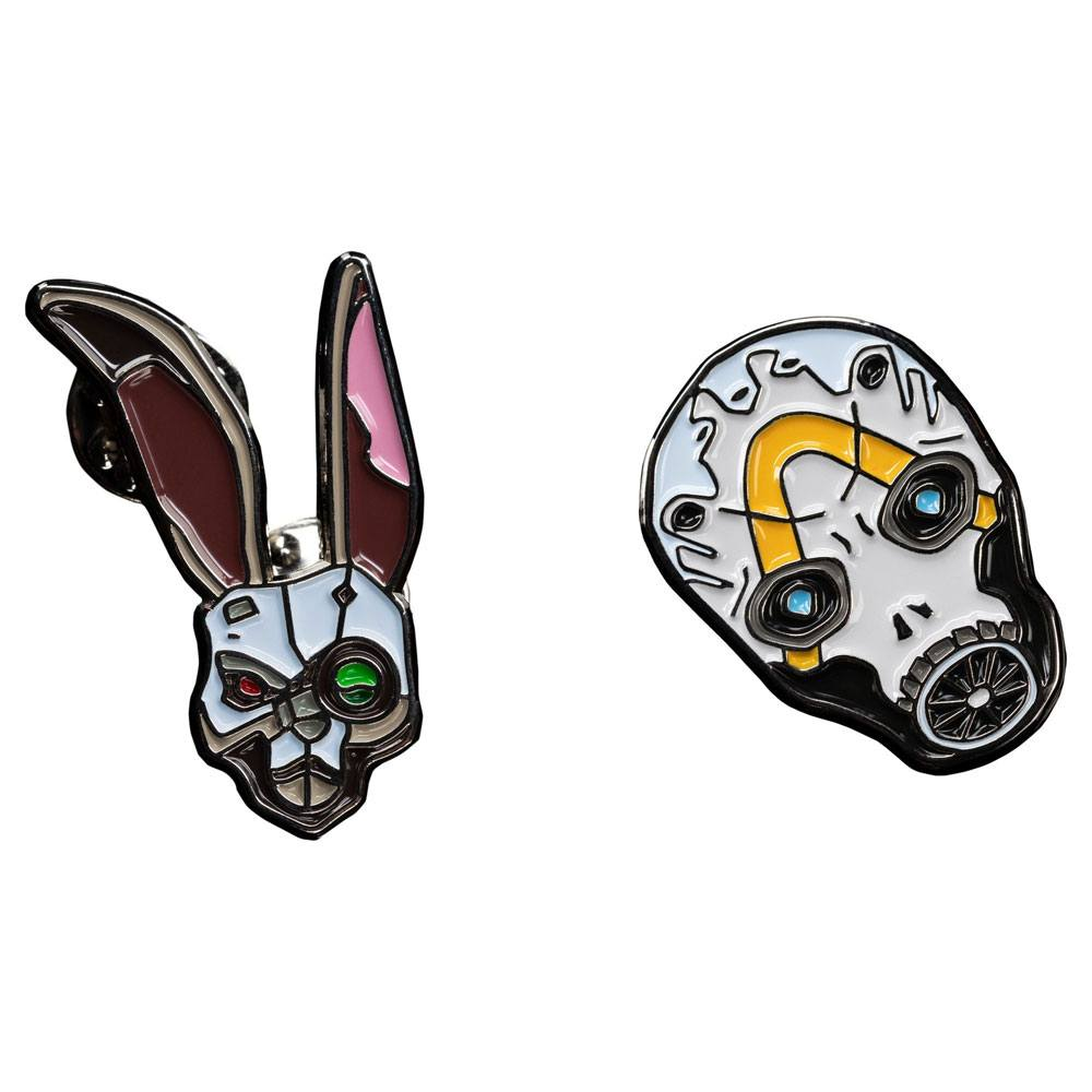 Borderlands Collectors Pins 2-Pack Bunny & Psycho Mask