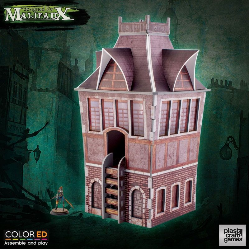 Malifaux ColorED Miniature Gaming Model Kit 32 mm The Tower