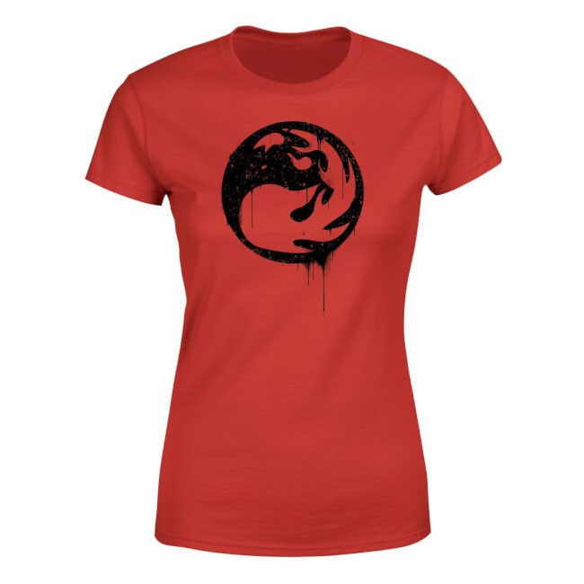 Magic the Gathering Ladies T-Shirt Red Mana Splatter Size XXL