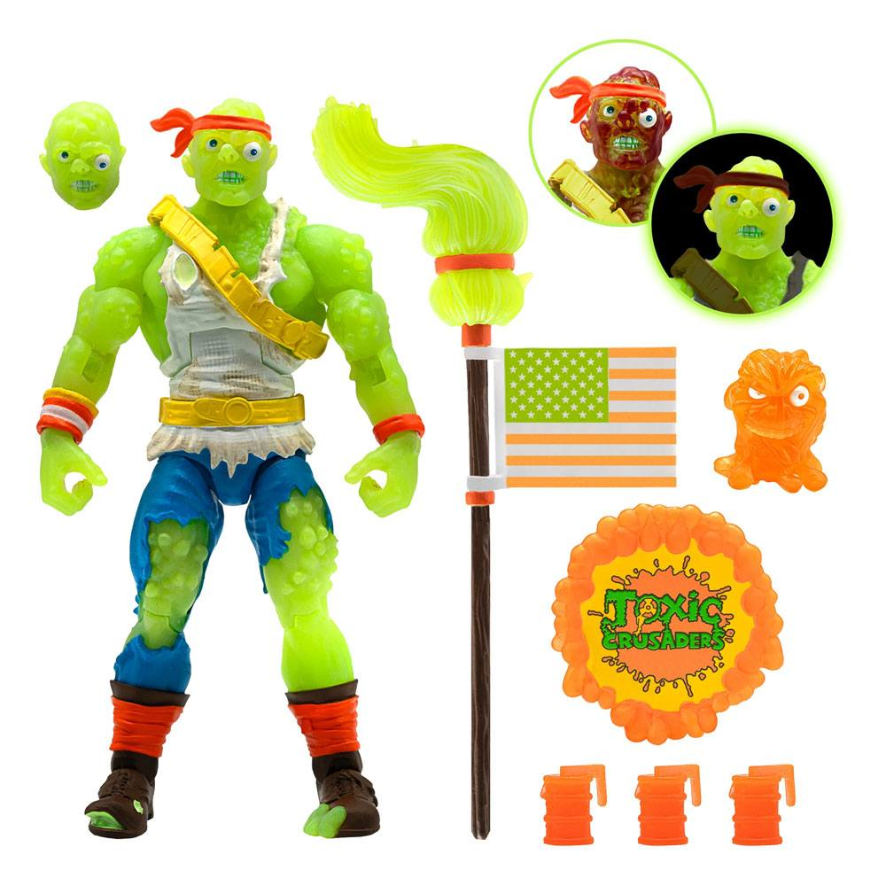 Toxic Crusaders Ultimates Action Figure Radioactive Red Rage 18 cm