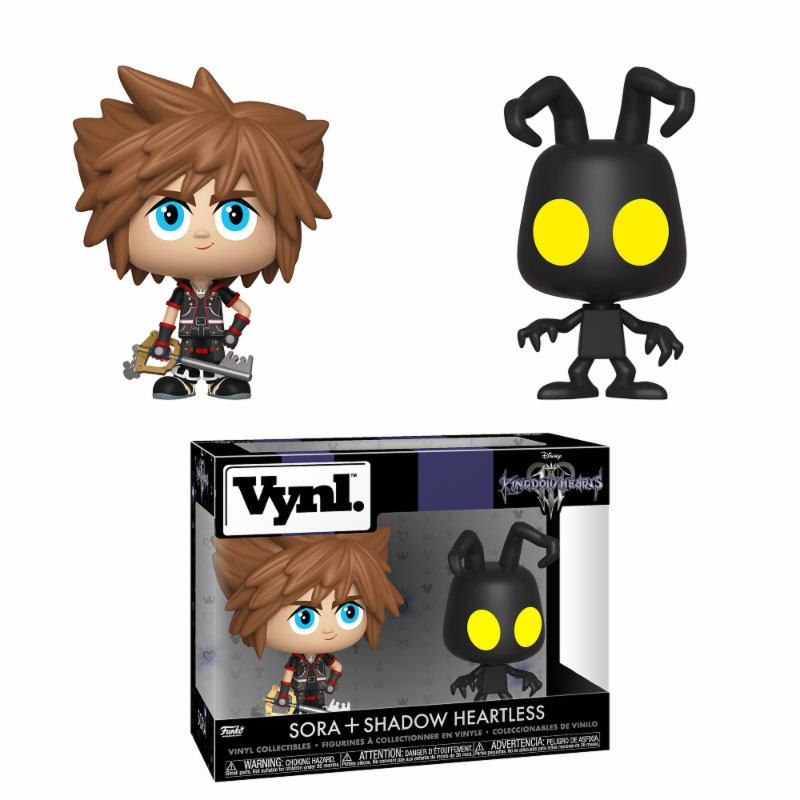 Kingdom Hearts 3 VYNL Vinyl Figures 2-Pack Sora & Heartless 10 cm