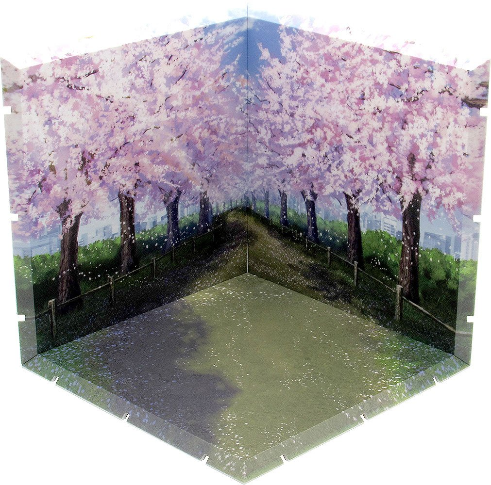 Dioramansion 150 Decorative Parts for Nendoroid and Figma Figures Cherry Blossom Road