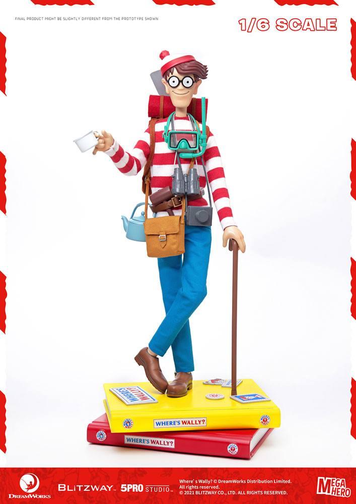 Where's Wally? Mega Hero Action Figure 1/6 Wally 34 cm