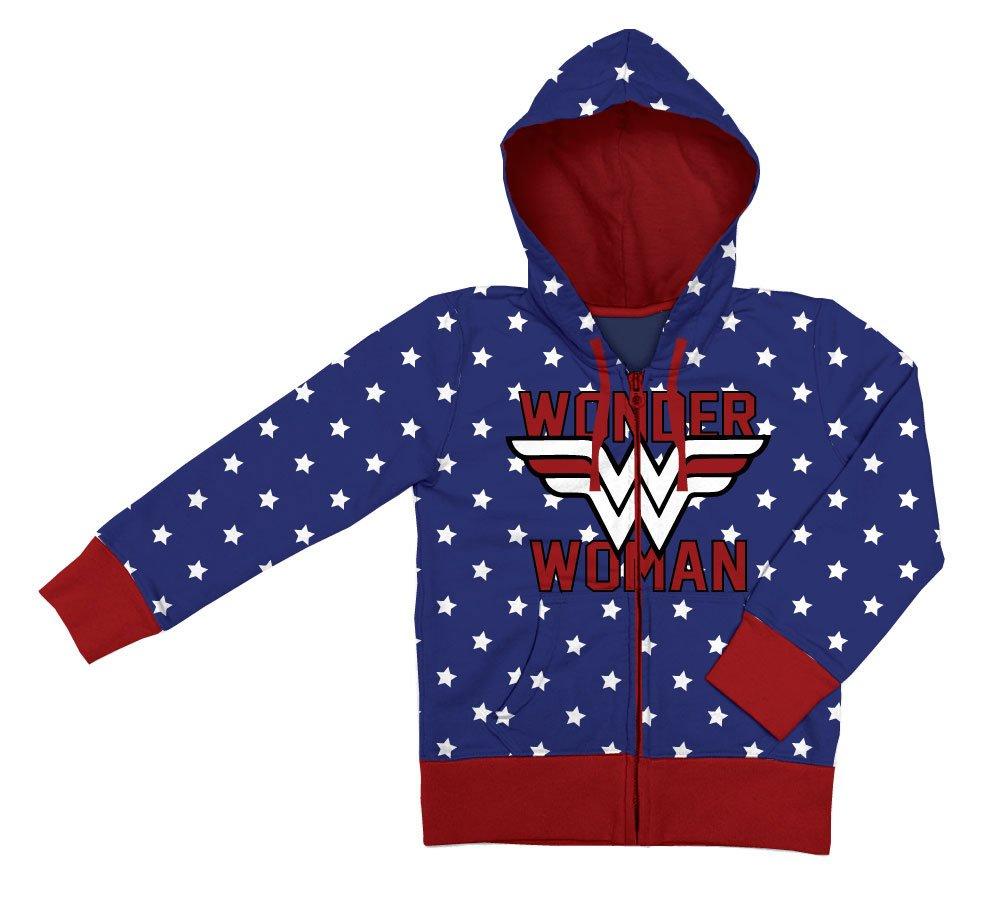 Wonder Woman Ladies Hooded Zip Sweater Logo Size M