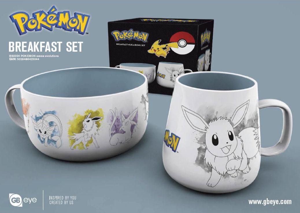 Pokémon Breakfast Set Eevee Evolutions
