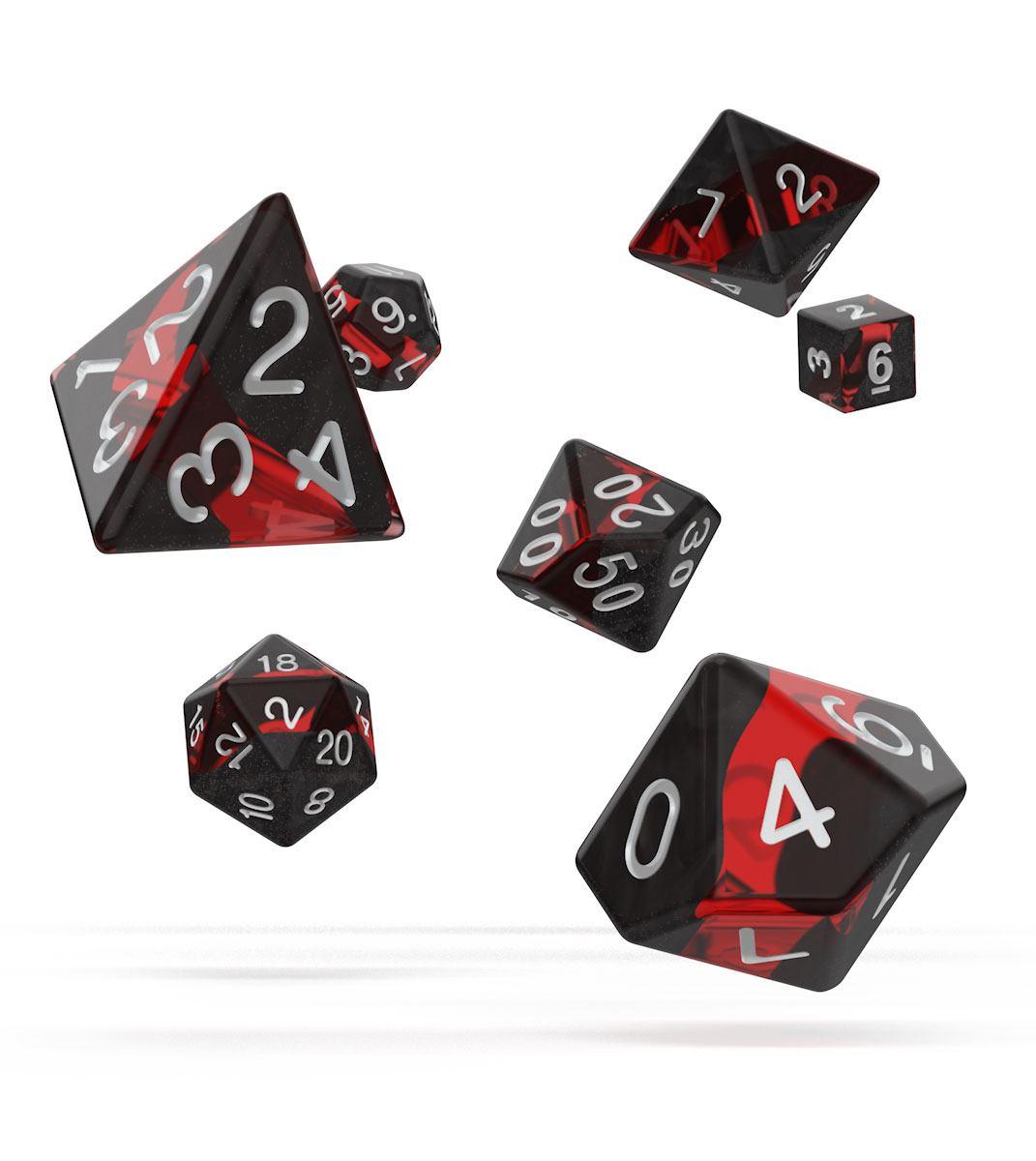 Oakie Doakie Dice RPG Set Enclave - Ruby (7)