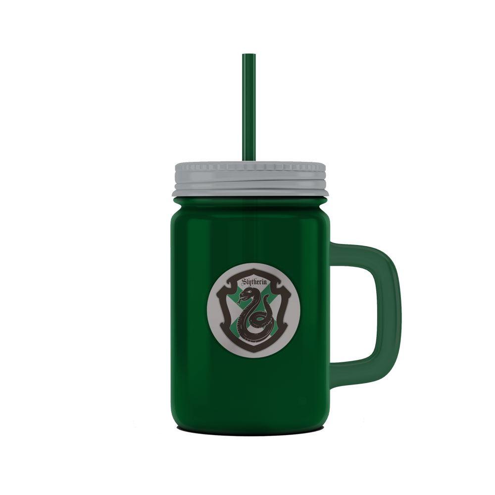 Harry Potter Mason Jar Glass Slytherin Logo