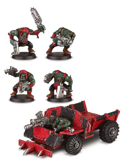 Warhammer 40K Build+Paint Model Set Series 1 Space Ork Trukkboyz