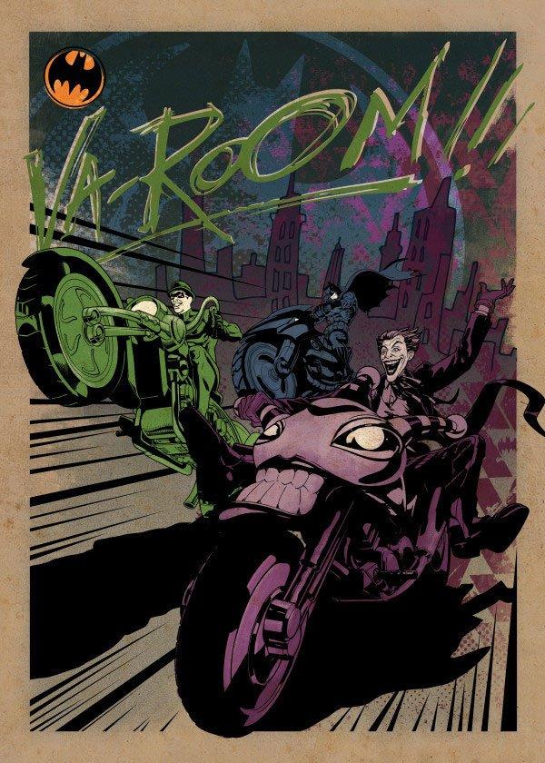 DC Comics Metal Poster Gotham City Motor Club Gotham City MC 10 x 14 cm Case (5)