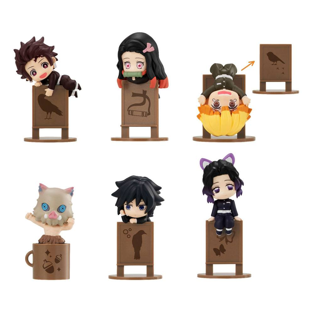 Demon Slayer Kimetsu no Yaiba Ochatomo Series Trading Figure 4 cm Assortment (6)