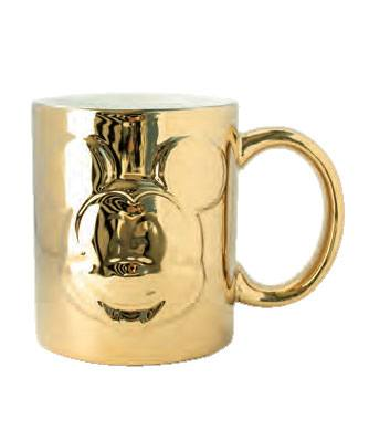 Mickey Mouse Deluxe Relief Mug Gold