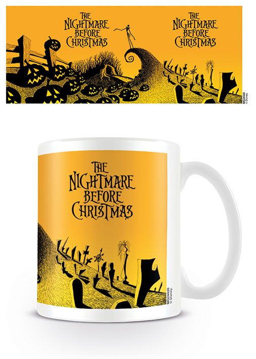 Nightmare Before Christmas Mug Graveyard Scene