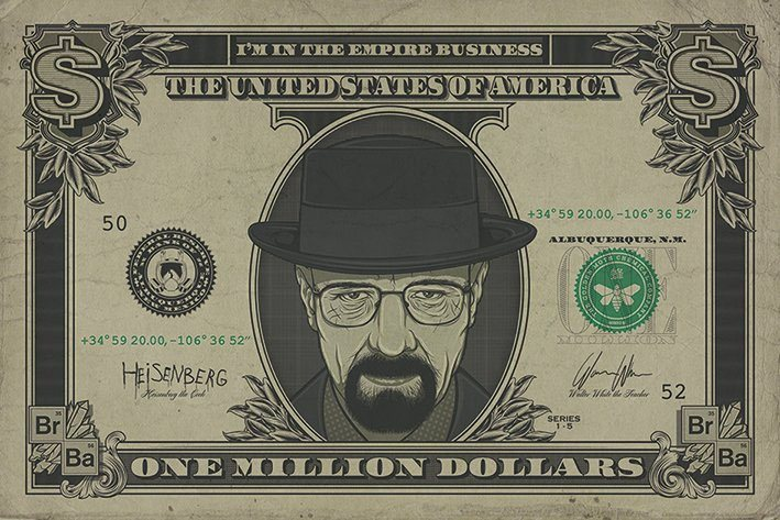 Breaking Bad Poster Pack Heisenberg Dollar 61 x 91 cm (5)