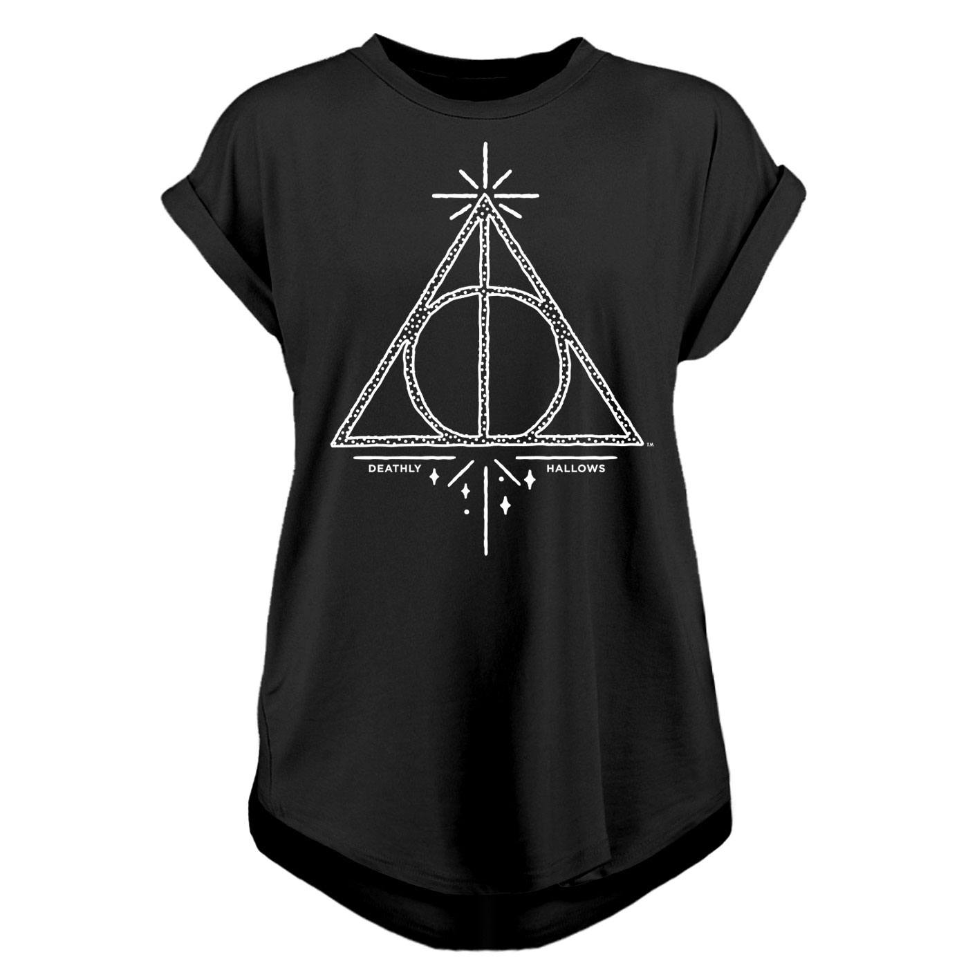 Harry Potter Ladies T-Shirt Deathly Hallows Size XL