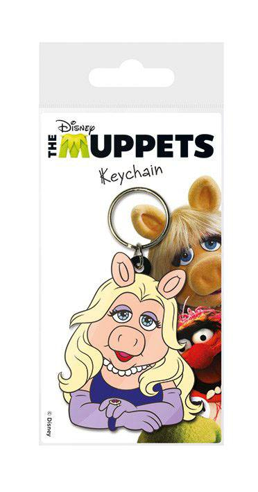 The Muppets Rubber Keychain Miss Piggy 6 cm