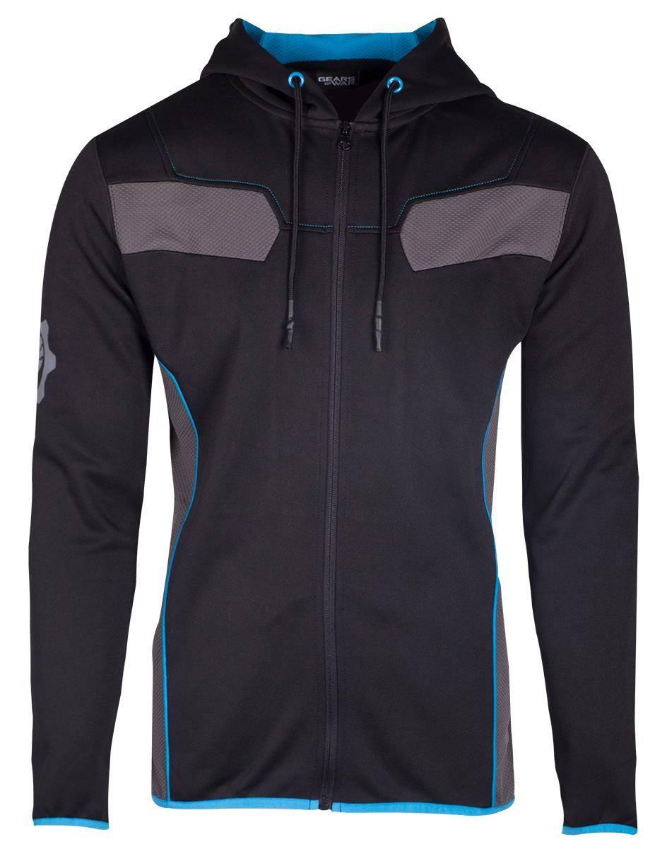 Gears Of War Hooded Sweater Blue Omen Tech  Size M