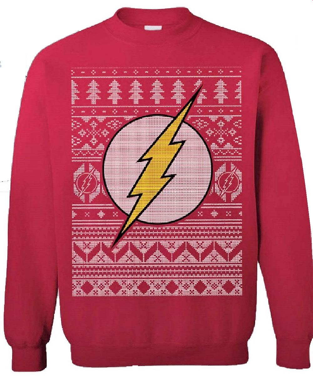 DC Comics Sweater The Flash Christmas  Size S