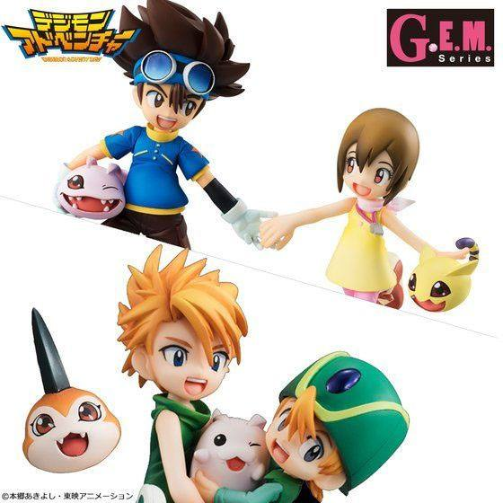 Digimon Adventure G.E.M. Series Statues Brother Set 15 cm