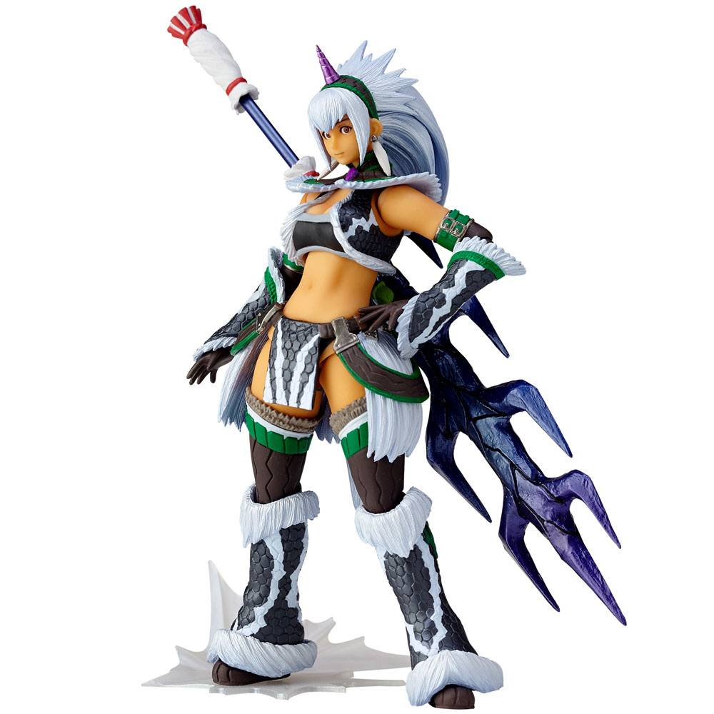 Monster Hunter X Vulcanlog Monhan Revo Action Figure Hunter Swordswoman Kirin U Series 16 cm --- DAMAGED PACKAGING