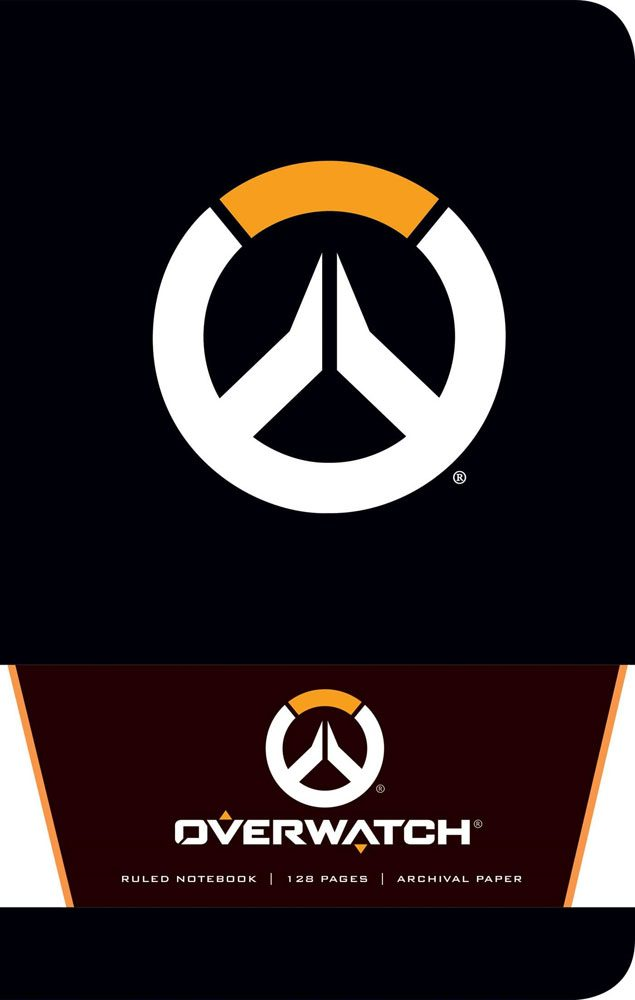 Overwatch Ruled Notebook Logo