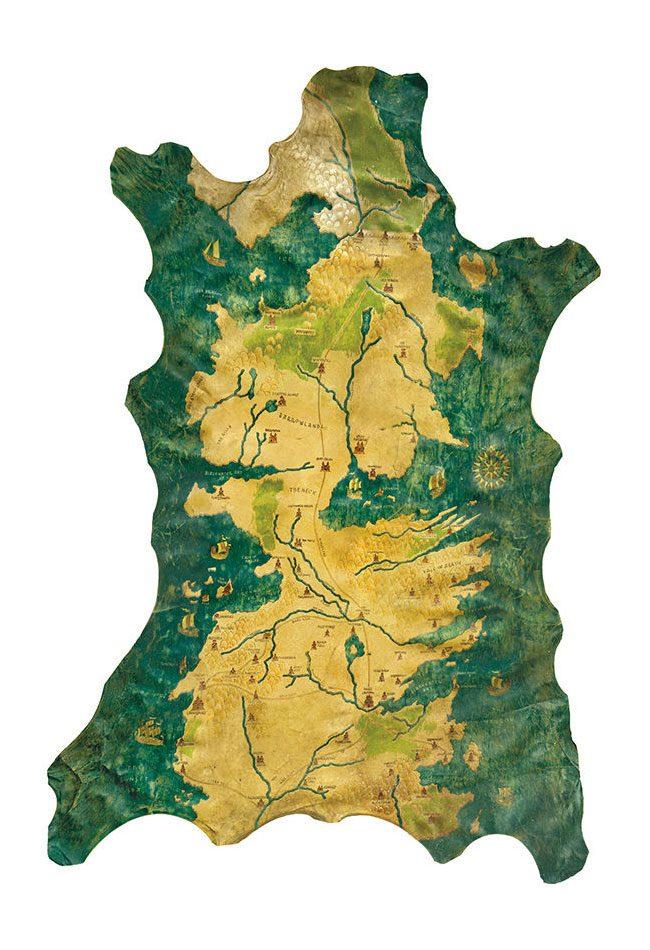 Game of Thrones Replica 1/1 Westeros Map