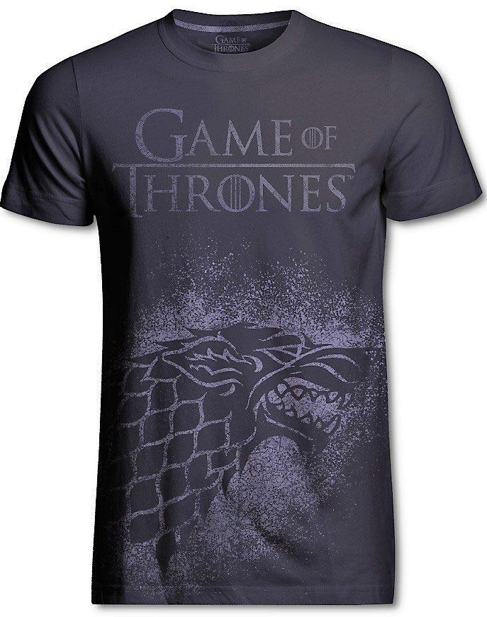 Game of Thrones T-Shirt Stark Jumbo Print Size M