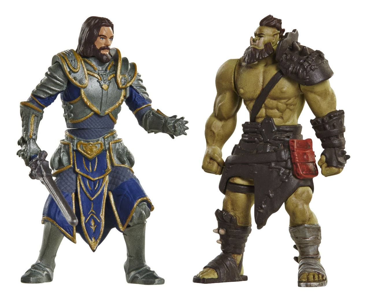 Warcraft Mini Figure 2-Pack Lothar vs. Horde Warrior 6 cm