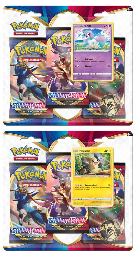 Pokémon Schwert und Schild Blister Booster 3-Pack *German Version*