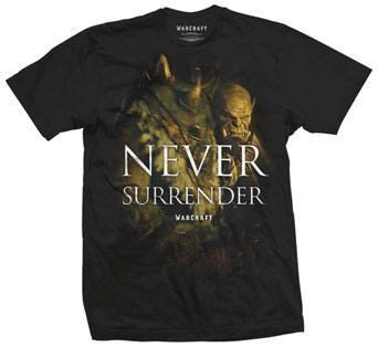 Warcraft T-Shirt Never Surrender Size L
