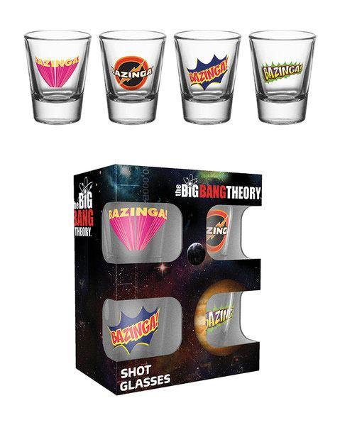 Big Bang Theory Shotglass 4-Pack Bazinga
