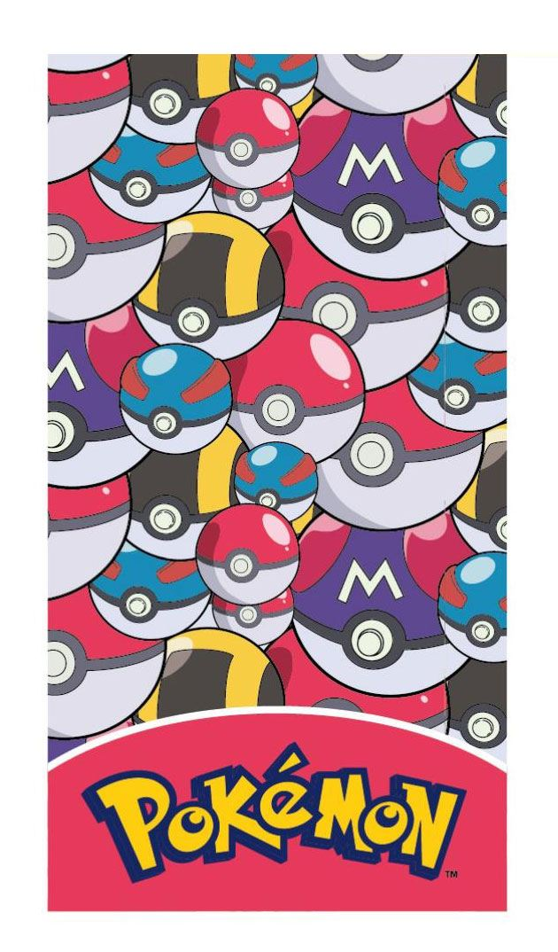 Pokemon Towel Poke Balls 140 x 70 cm