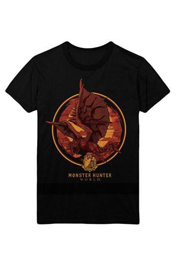 Monster Hunter World T-Shirt Screaming Rathalos Size L