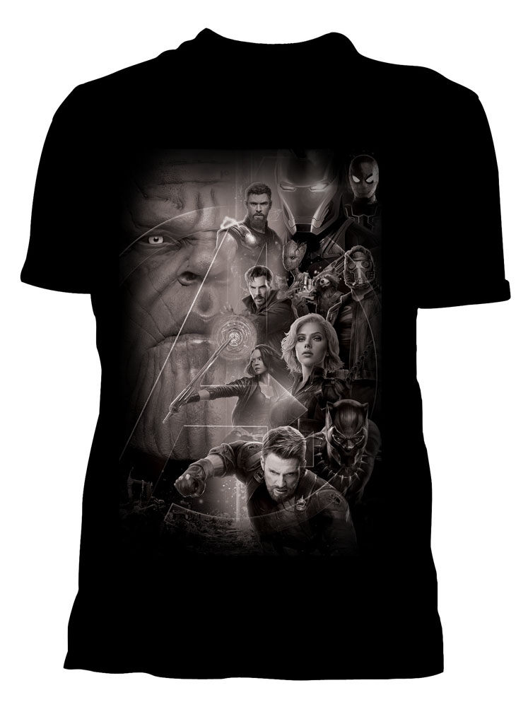Avengers Infinity War T-Shirt Group Size XL