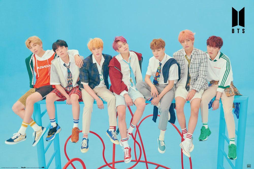 BTS Poster Blue 61 x 91,5 cm