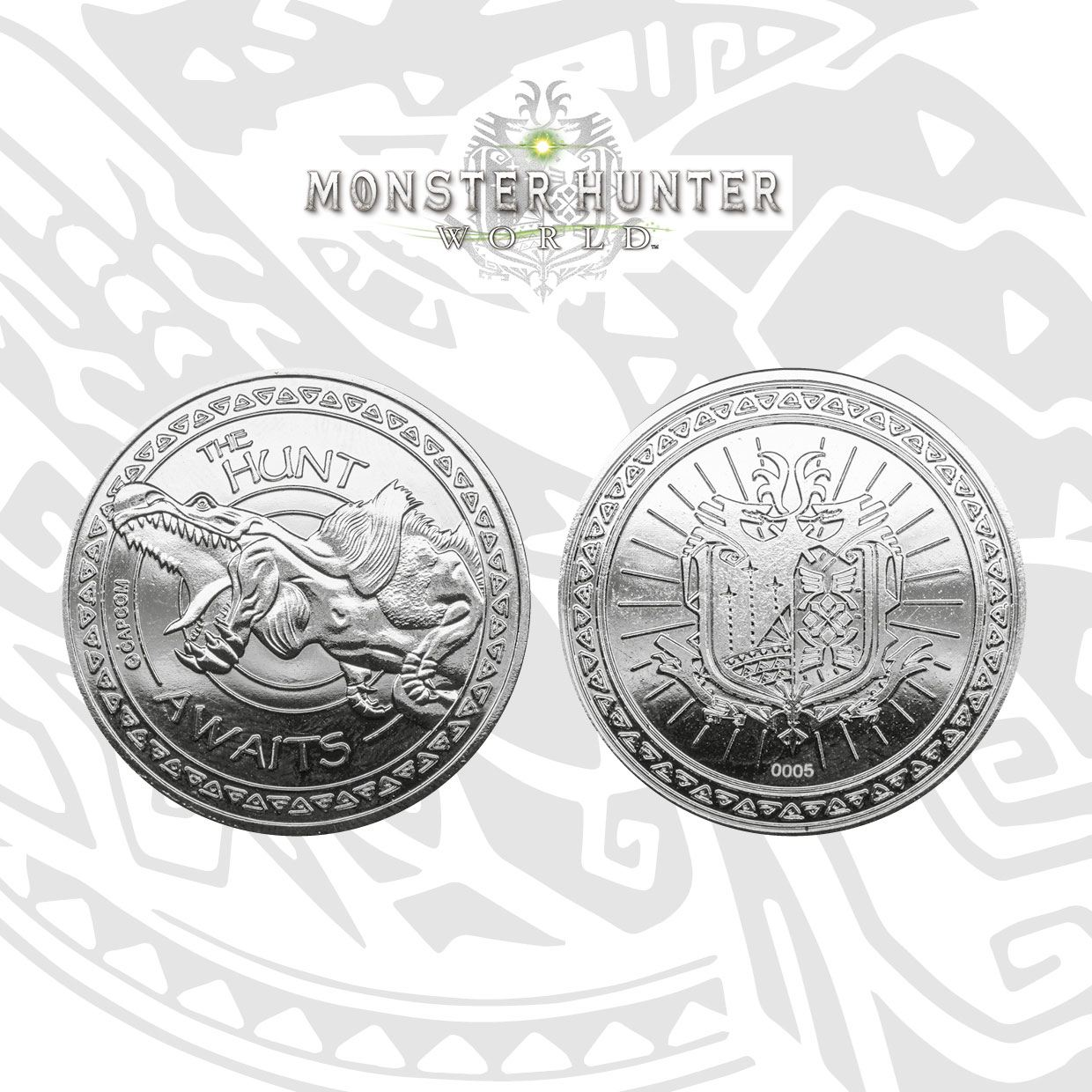 Monster Hunter Collectable Coin The Hunt Awaits Silver Edition