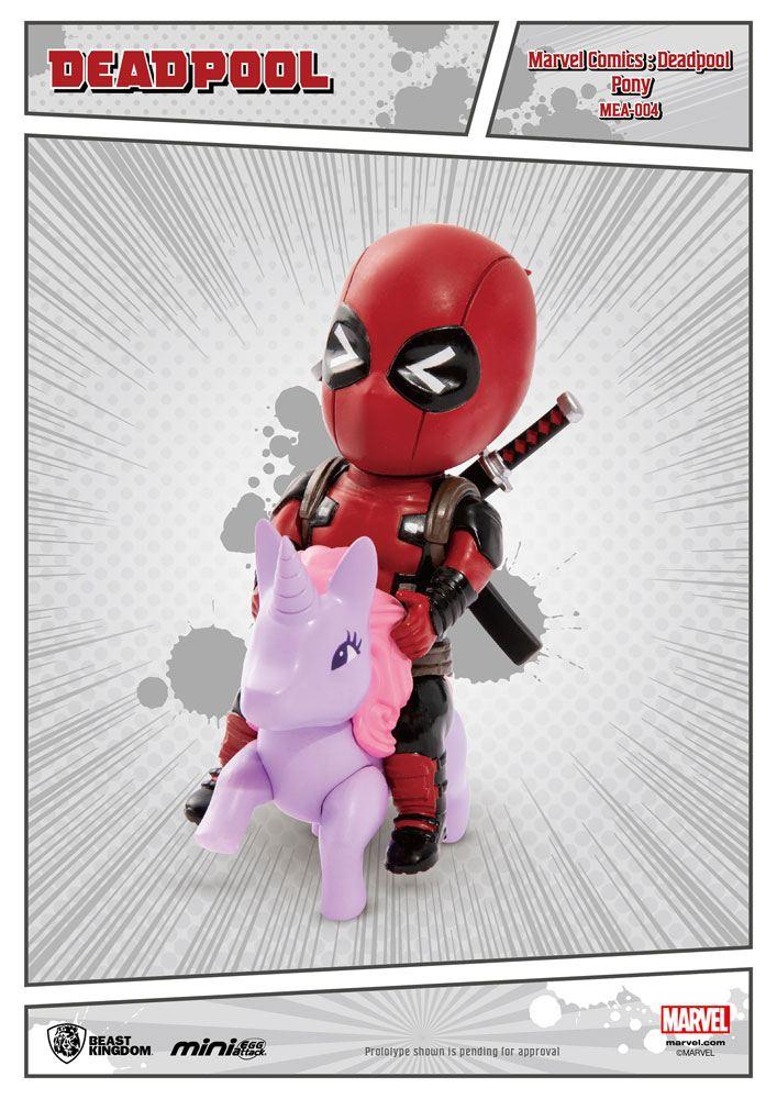 Marvel Comics Mini Egg Attack Figure Deadpool Pony 9 cm