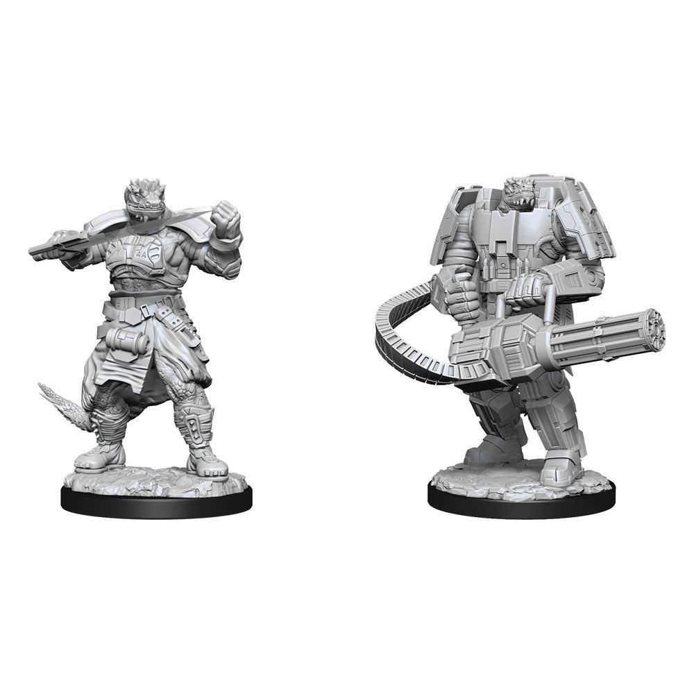 Starfinder Battles Deep Cuts Unpainted Miniatures Vesk Soldier Case (2)