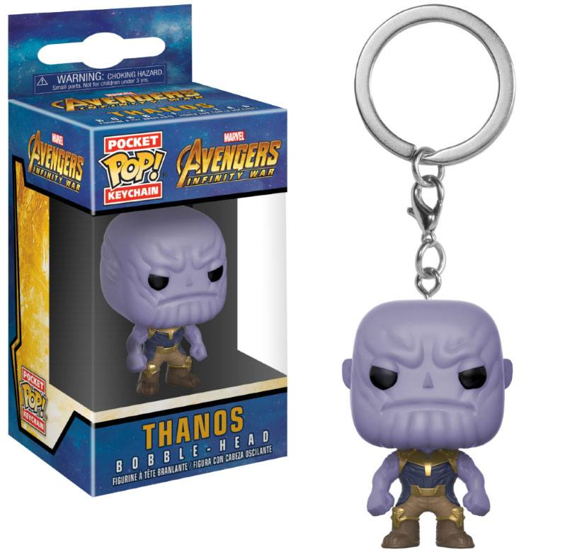 Avengers Infinity War Pocket POP! Vinyl Keychain Thanos 4 cm