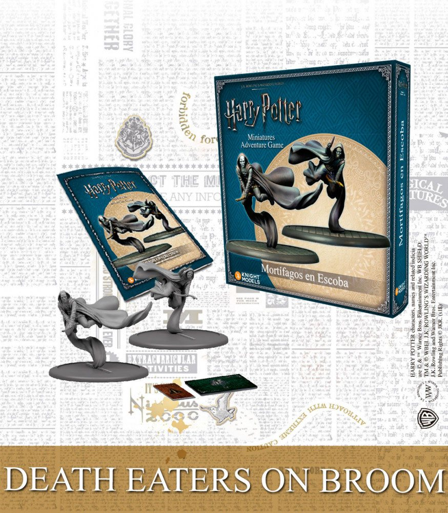 Harry Potter Miniature 35 mm 2-Pack Death Eaters on Broom *English Version*