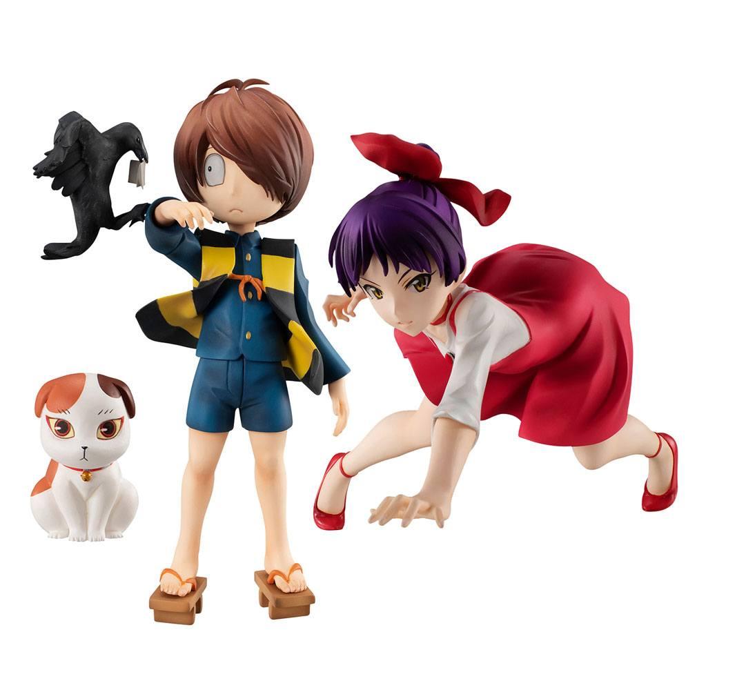 GeGeGe no Kitaro G.E.M. Series PVC Statues Neko Musume & Kitaro Special Edition 13 - 15 cm