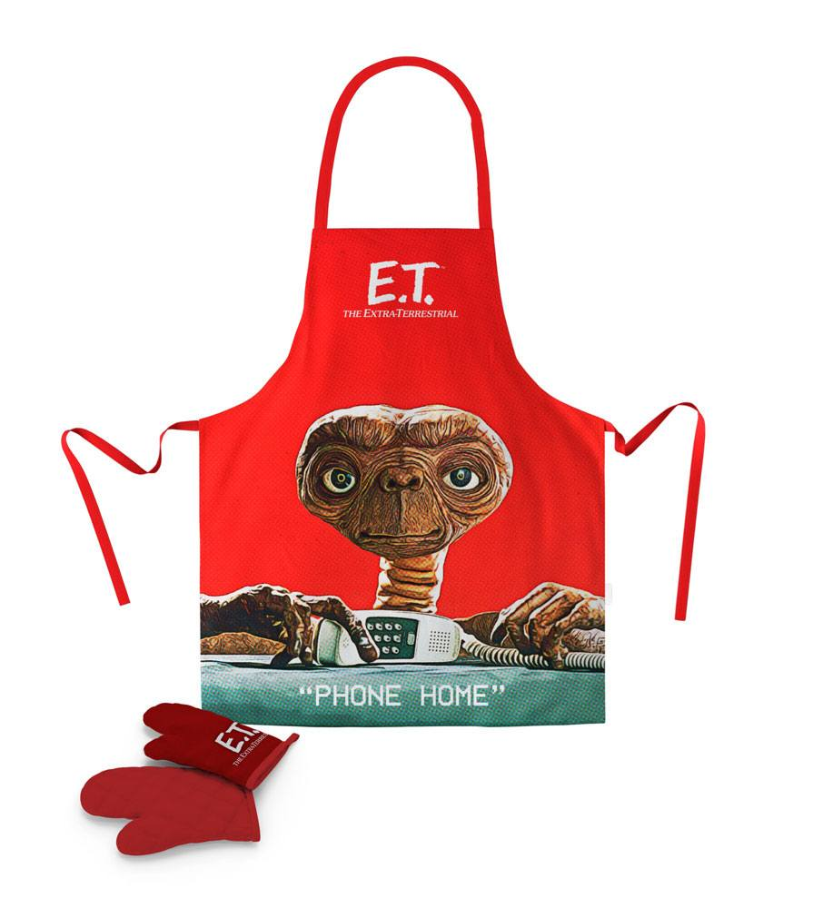 E.T. the Extra-Terrestrial cooking apron with oven mitt Phone Home