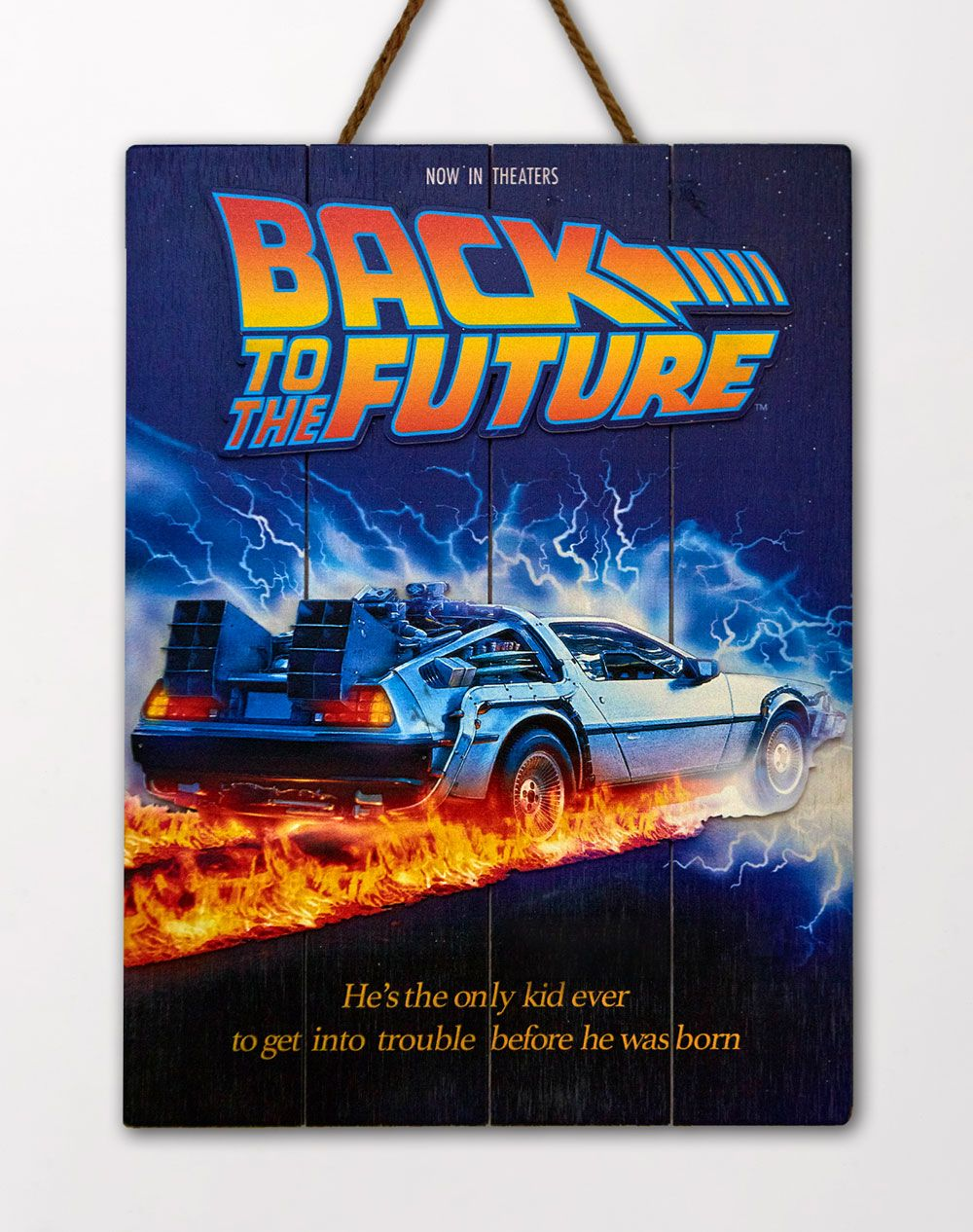 Back to the Future WoodArts 3D Wooden Wall Art DeLorean 30 x 40 cm