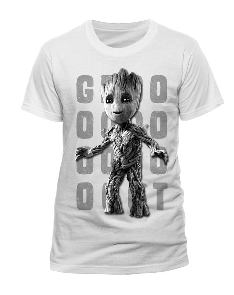 Guardians of the Galaxy 2 T-Shirt Photo Groot white Size L