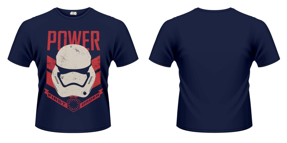 Star Wars Episode VII T-Shirt Stormtrooper Power First Order Size XL