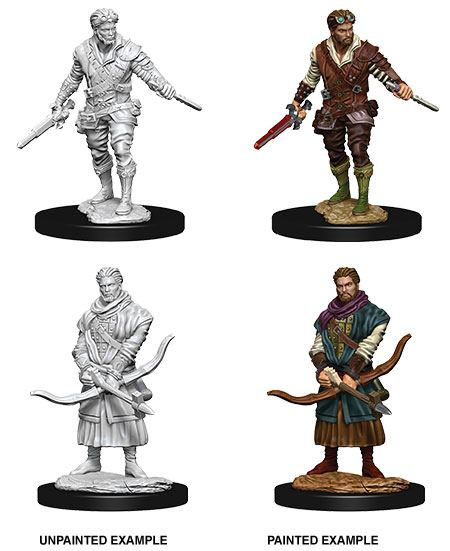 D&D Nolzur's Marvelous Miniatures Unpainted Miniatures Male Human Rogue Case (6)