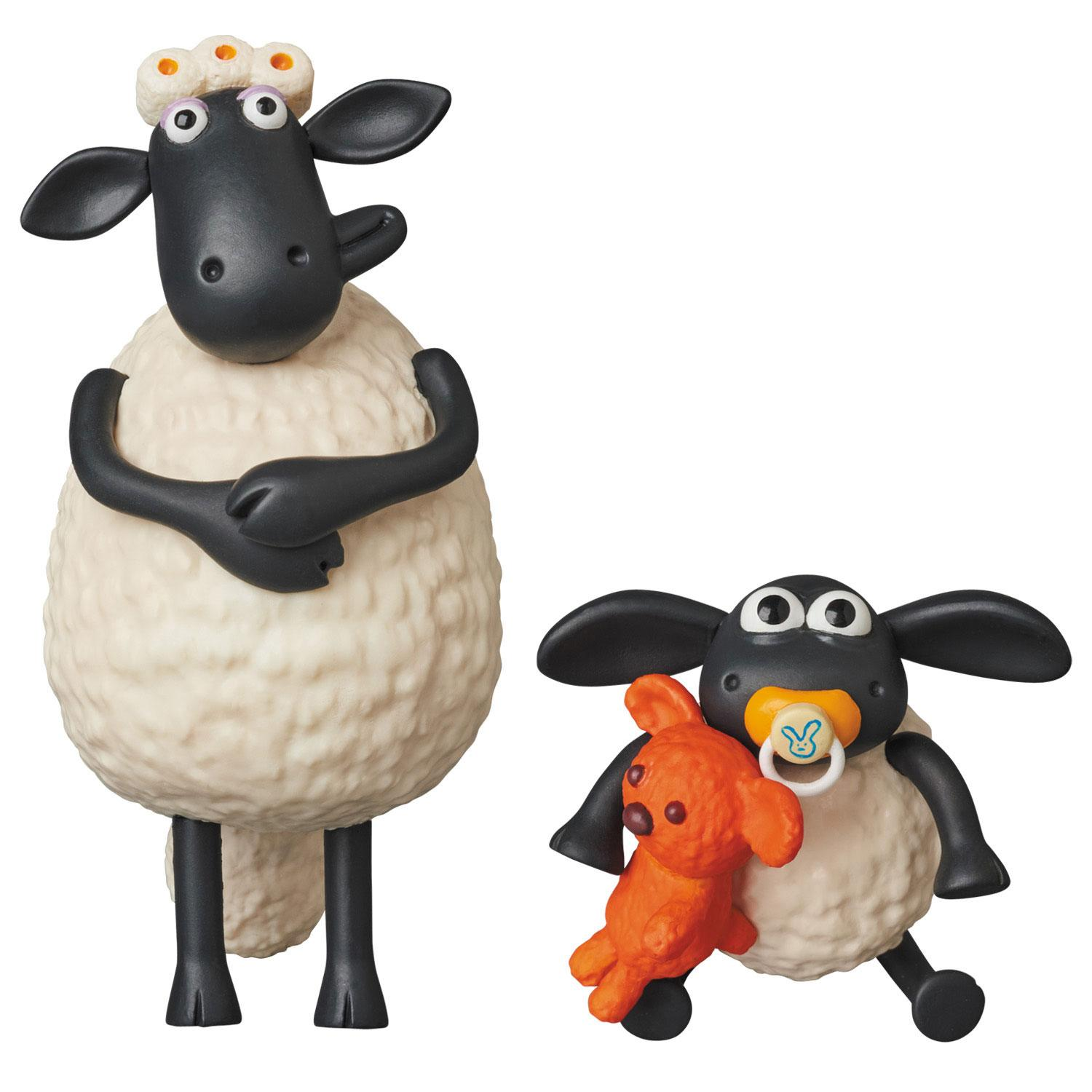 Shaun the Sheep UDF Aardman Animation #2 Mini Figure 2-Pack Timmy & Timmy's Mum 5-8 cm